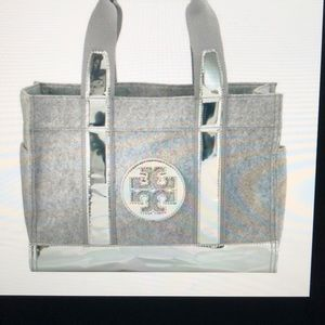 Tory Burch Grey Flannel Large Tory Tote